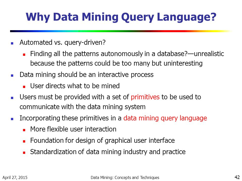Why Data Mining Query Language