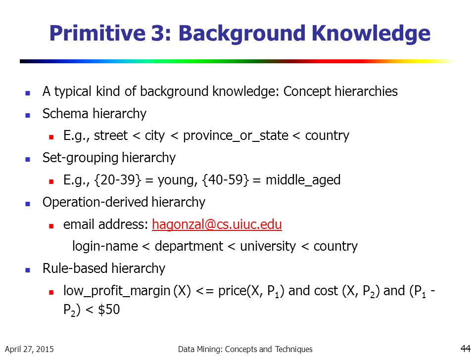 Primitive 3: Background Knowledge