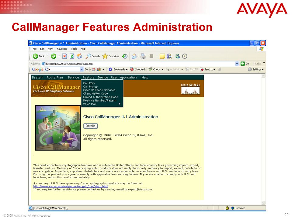 CallManager Features Administration