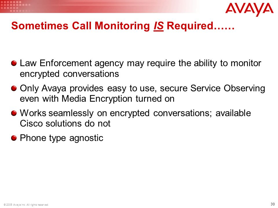 Sometimes Call Monitoring IS Required……