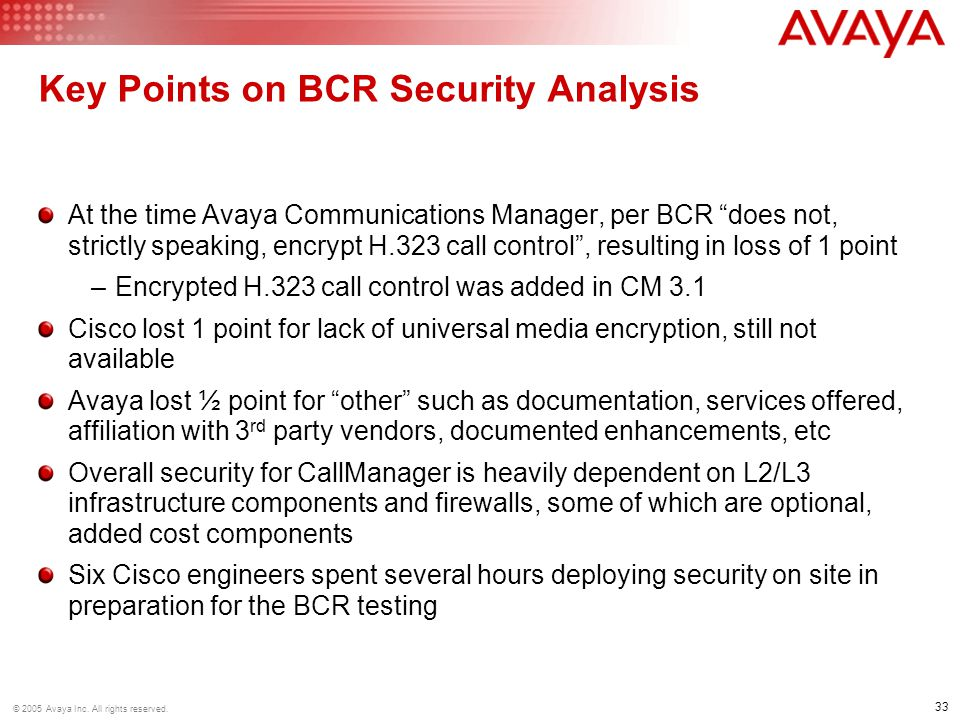 Key Points on BCR Security Analysis