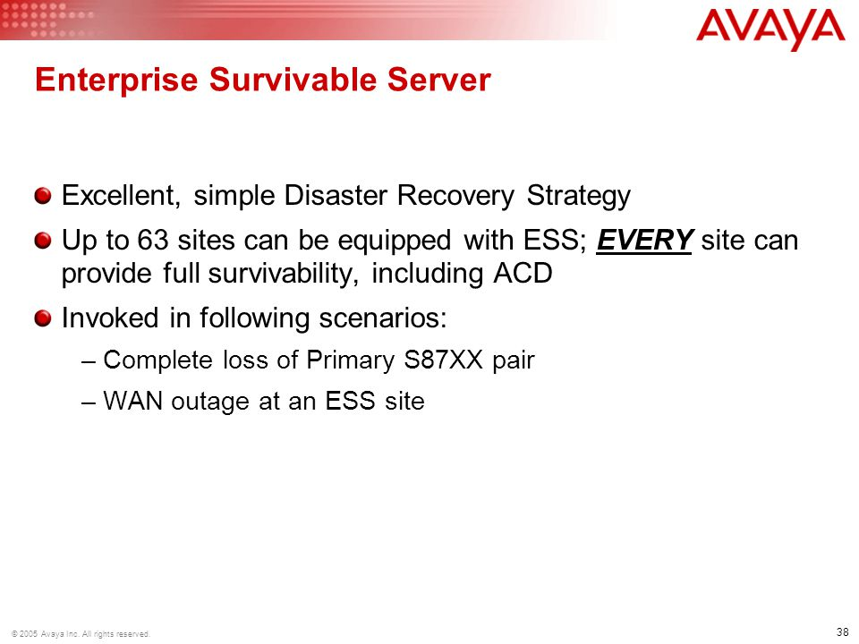 Enterprise Survivable Server