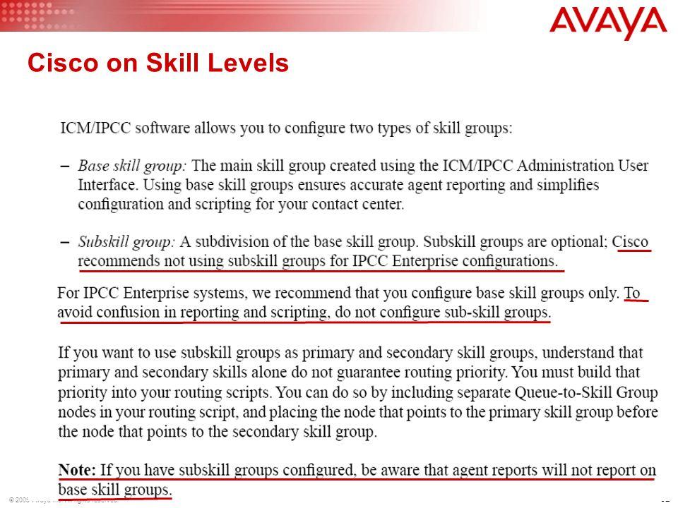 Cisco on Skill Levels