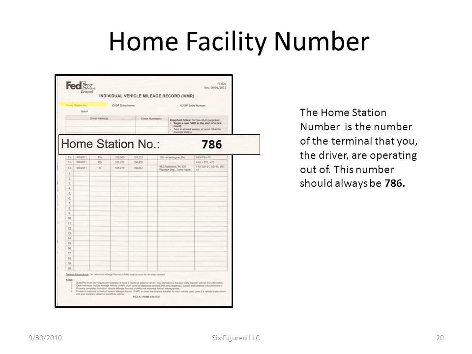 Home Facility Number