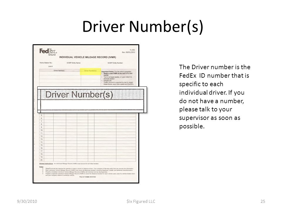 Driver Number(s)