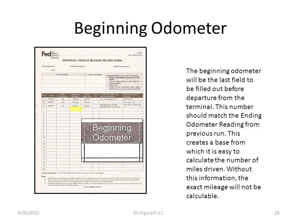 Beginning Odometer