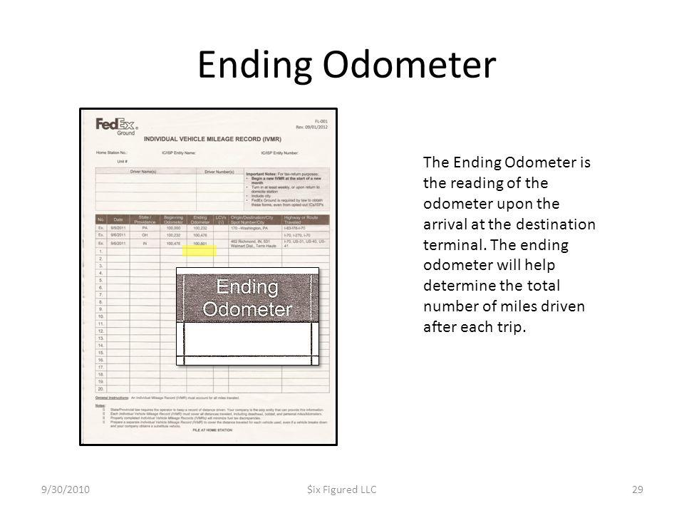 Ending Odometer