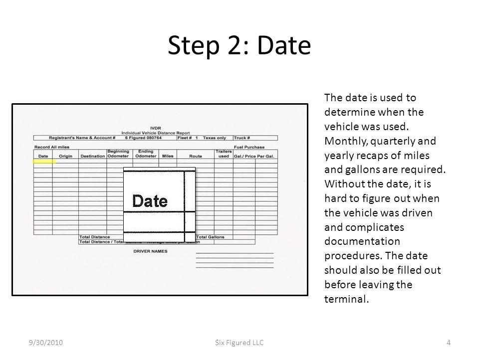 Step 2: Date