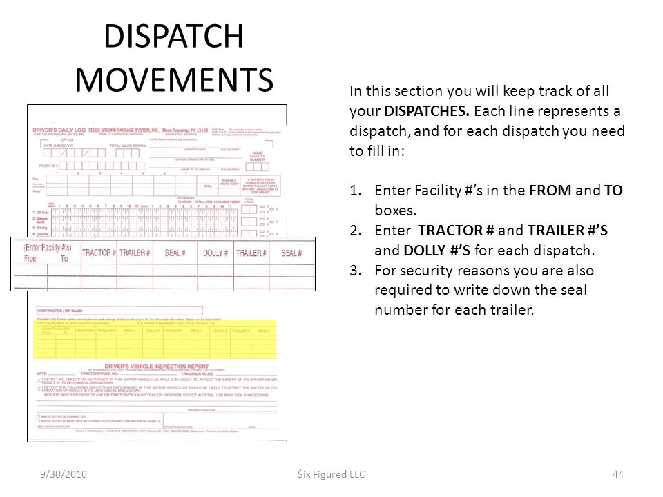 DISPATCH MOVEMENTS