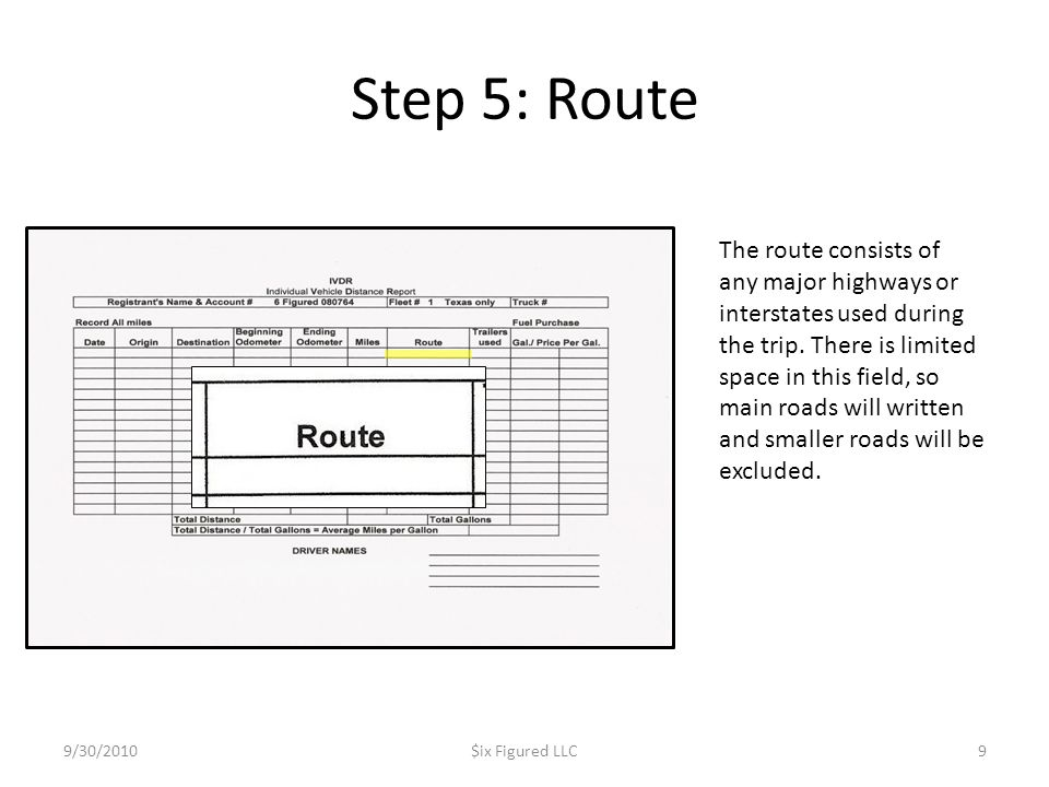 Step 5: Route