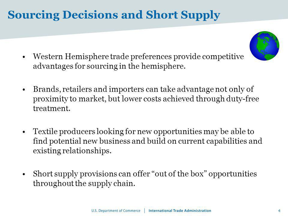Sourcing Decisions and Short Supply