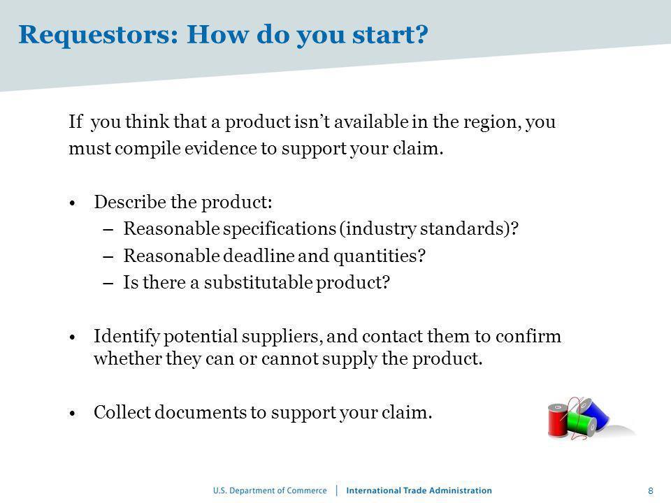 Requestors: How do you start