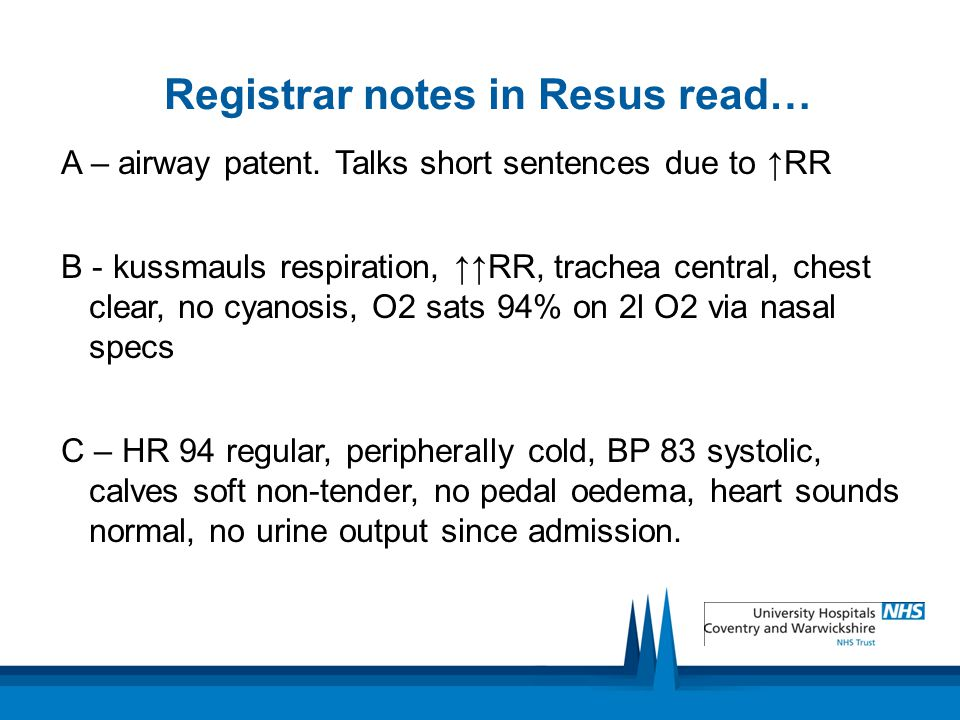 Registrar notes in Resus read…