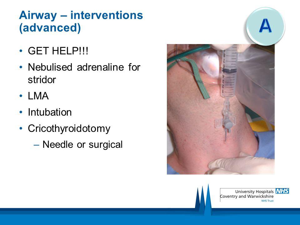 Airway – interventions (advanced)
