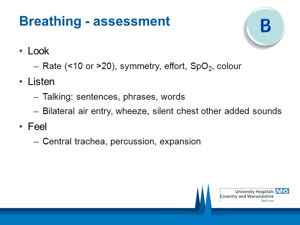 Breathing - assessment