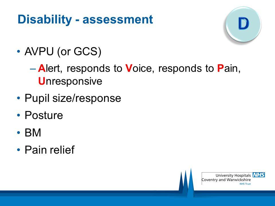 Disability - assessment