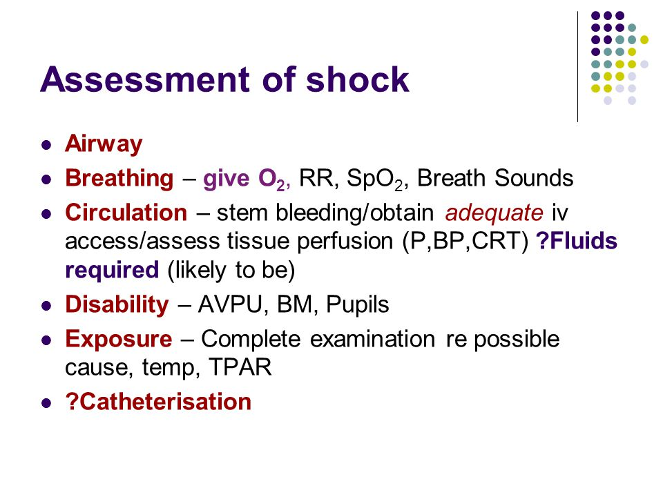 Assessment of shock Airway