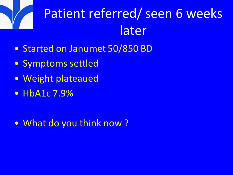 Patient referred/ seen 6 weeks later
