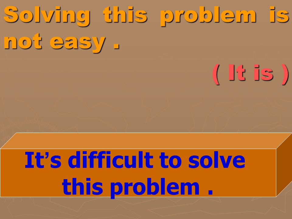 Solving this problem is not easy . ( It is )