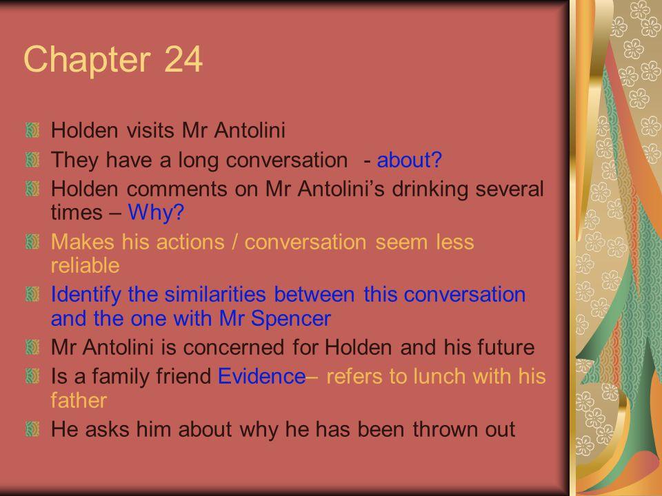 Chapter 24 Holden visits Mr Antolini