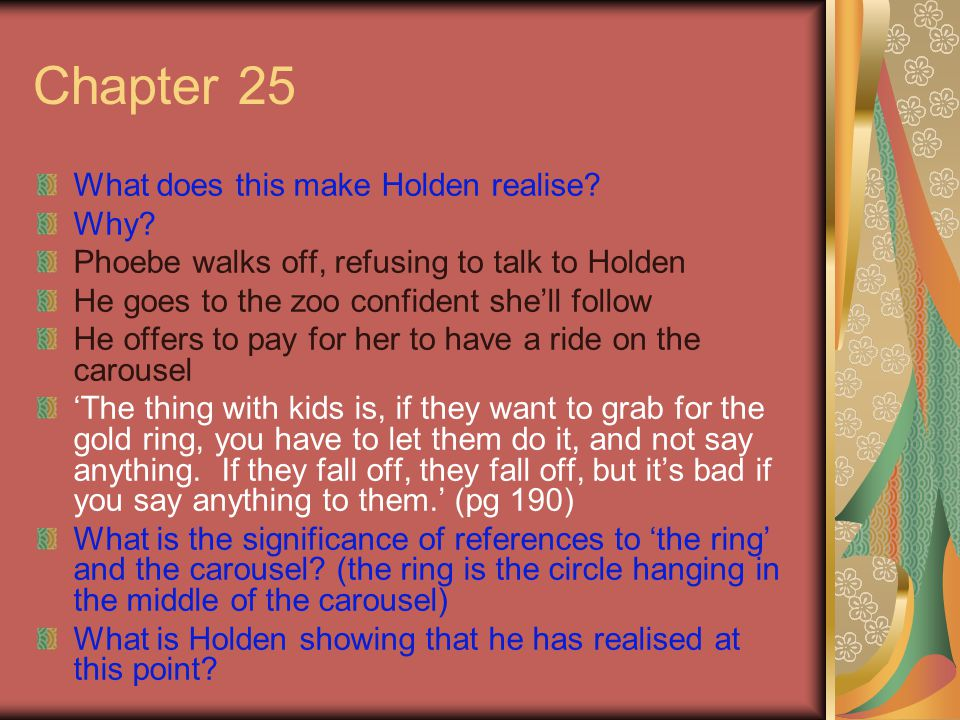 why holden wants to be the Holden also struggles with family and class  character analysis holden caulfield bookmark this  he wants to run off with sally hayes and maybe get.