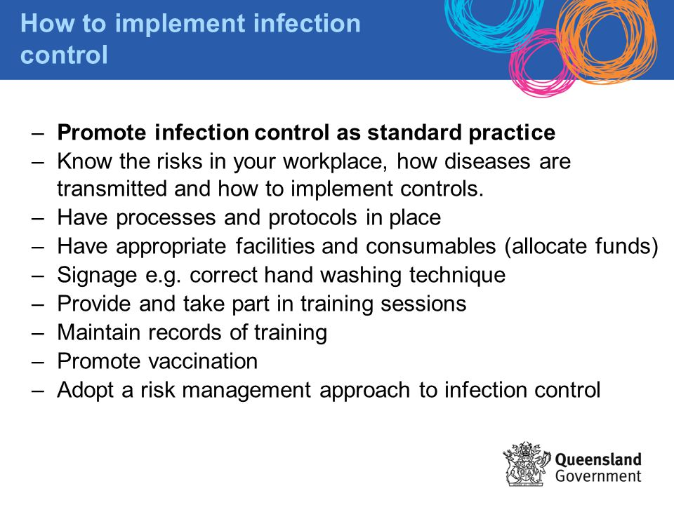 How to implement infection control
