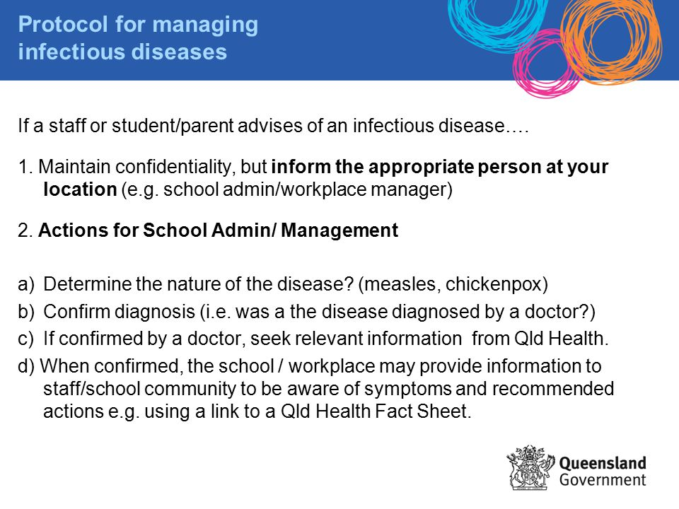 Protocol for managing infectious diseases