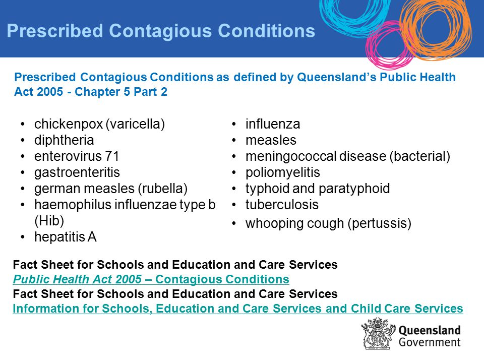Prescribed Contagious Conditions