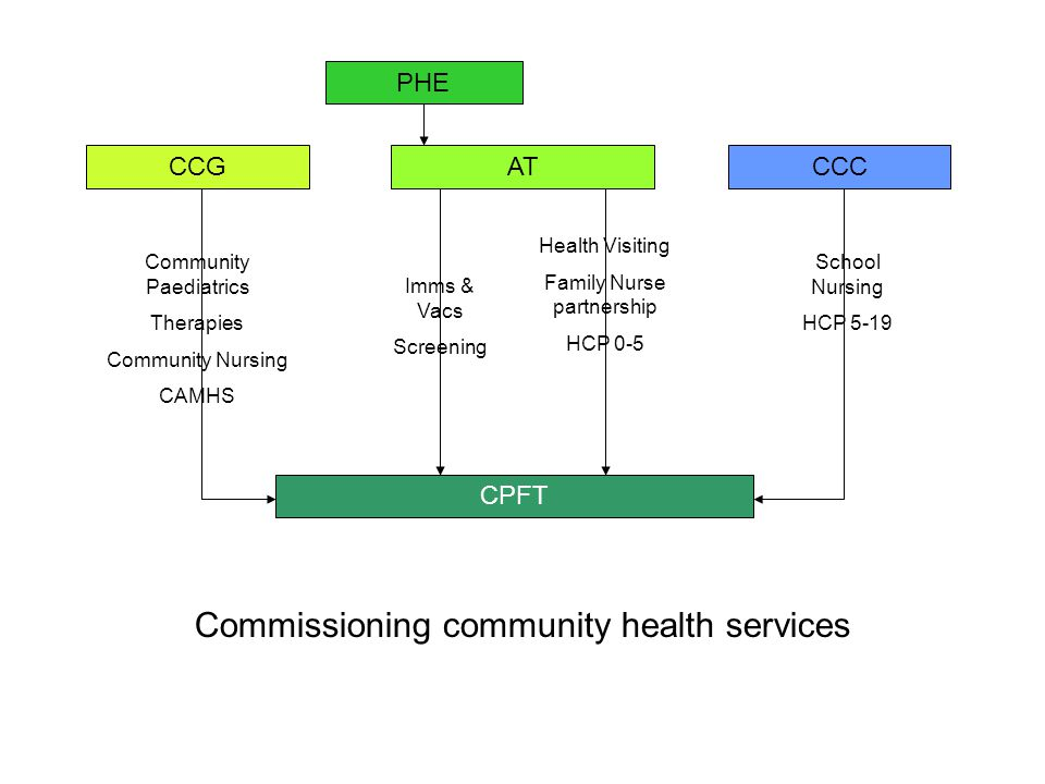 Commissioning community health services