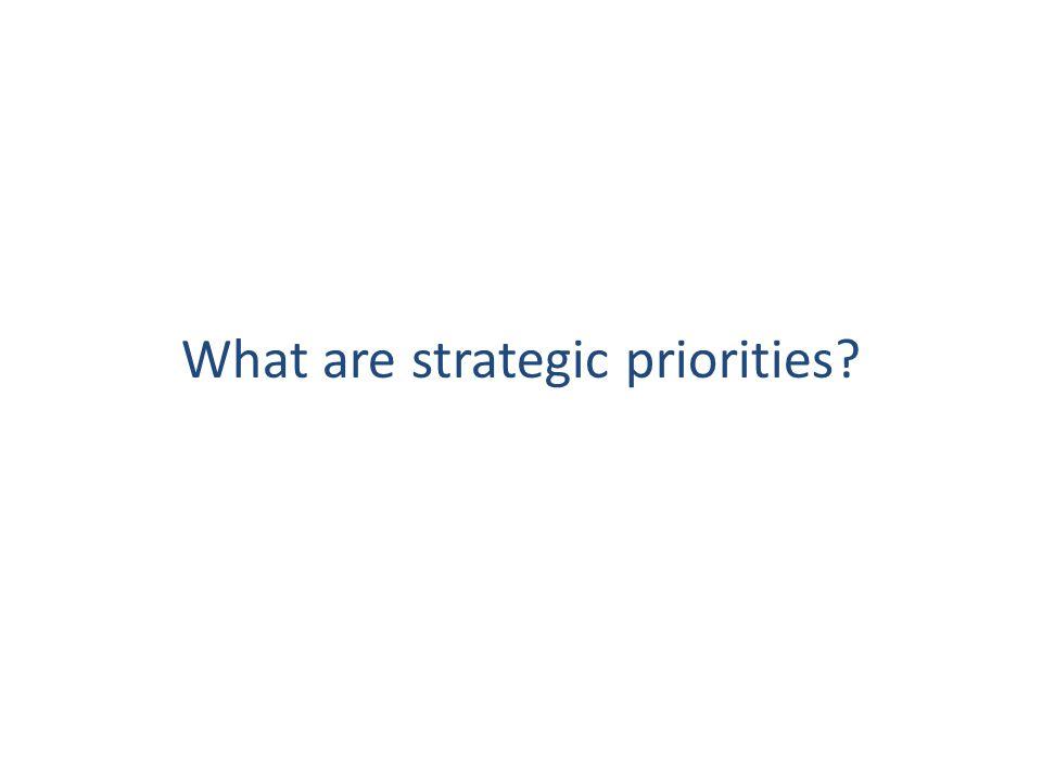 What are strategic priorities