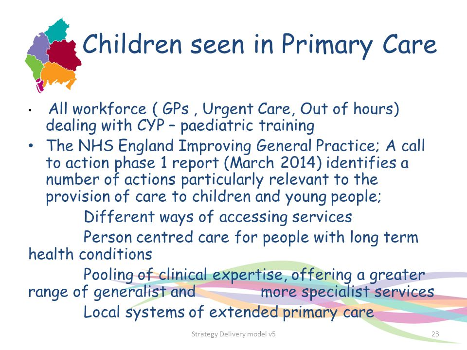 Children seen in Primary Care