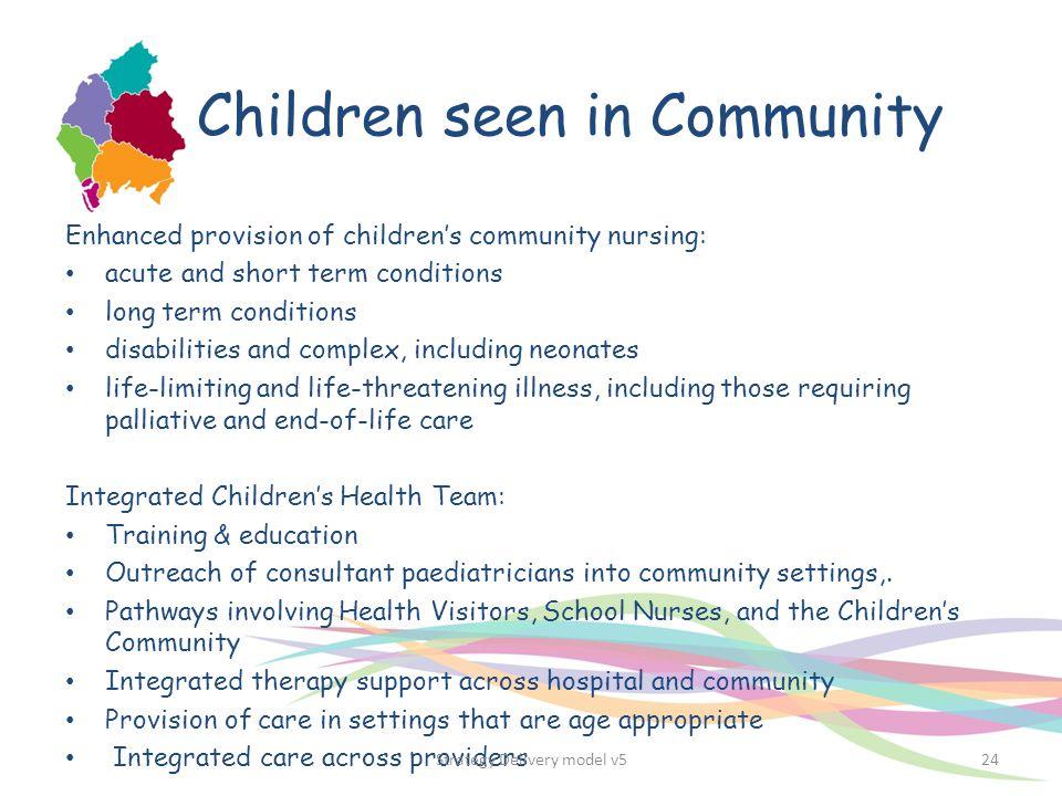 Children seen in Community