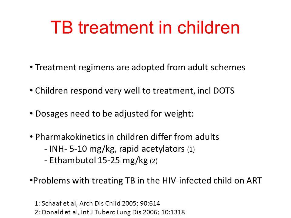 TB treatment in children