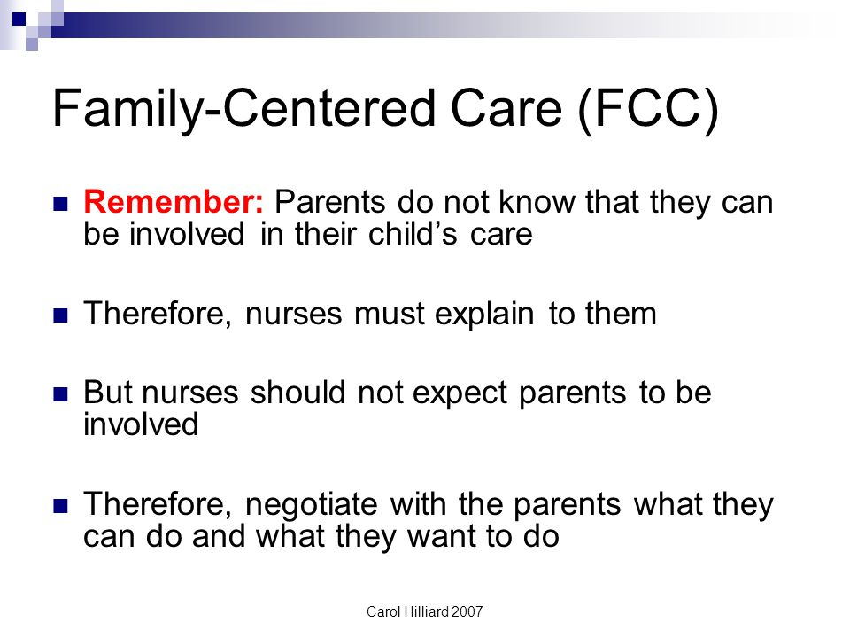 Family-Centered Care (FCC)