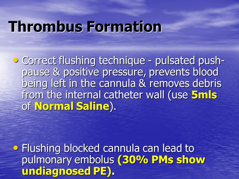 Thrombus Formation