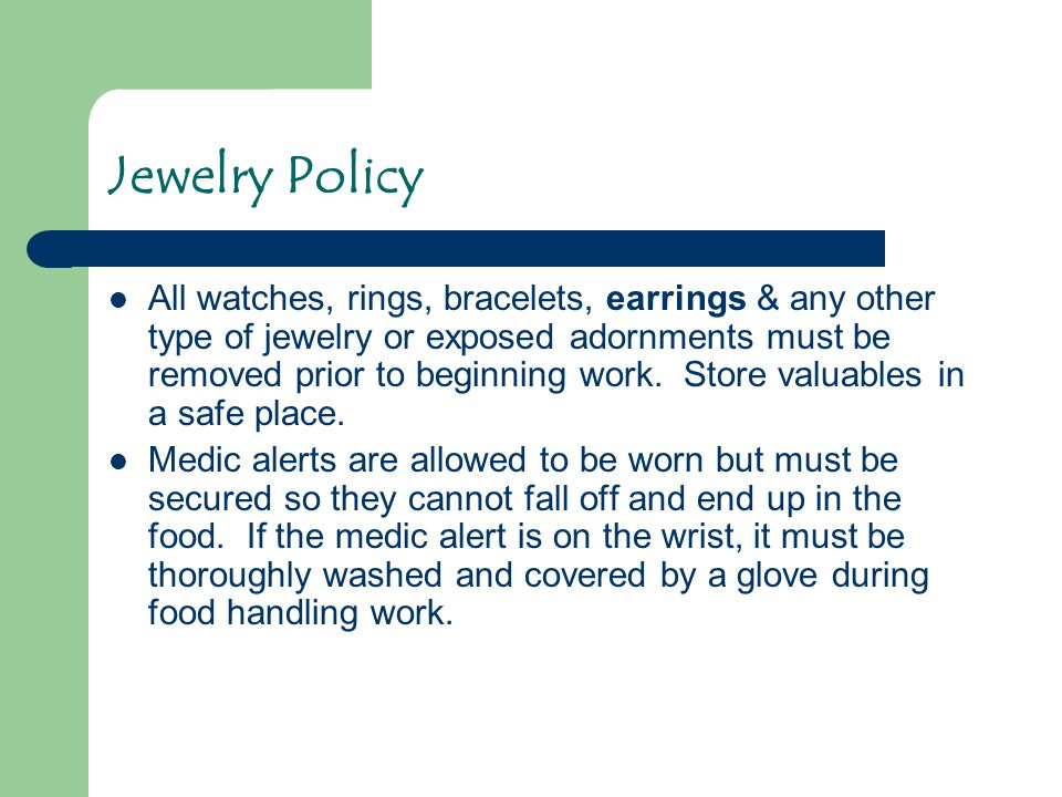 Jewelry Policy