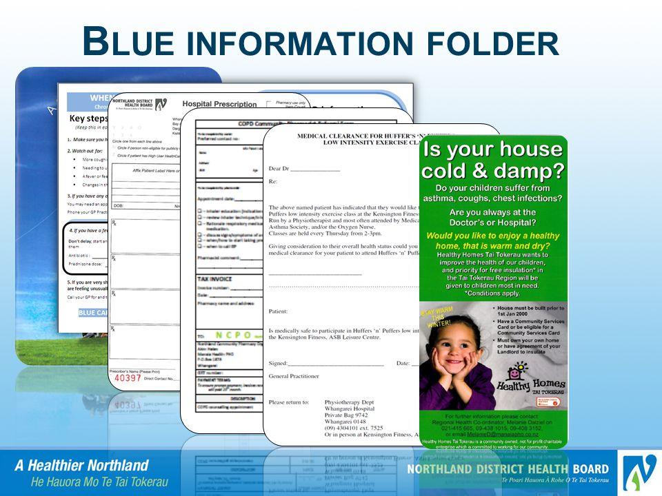 Blue information folder