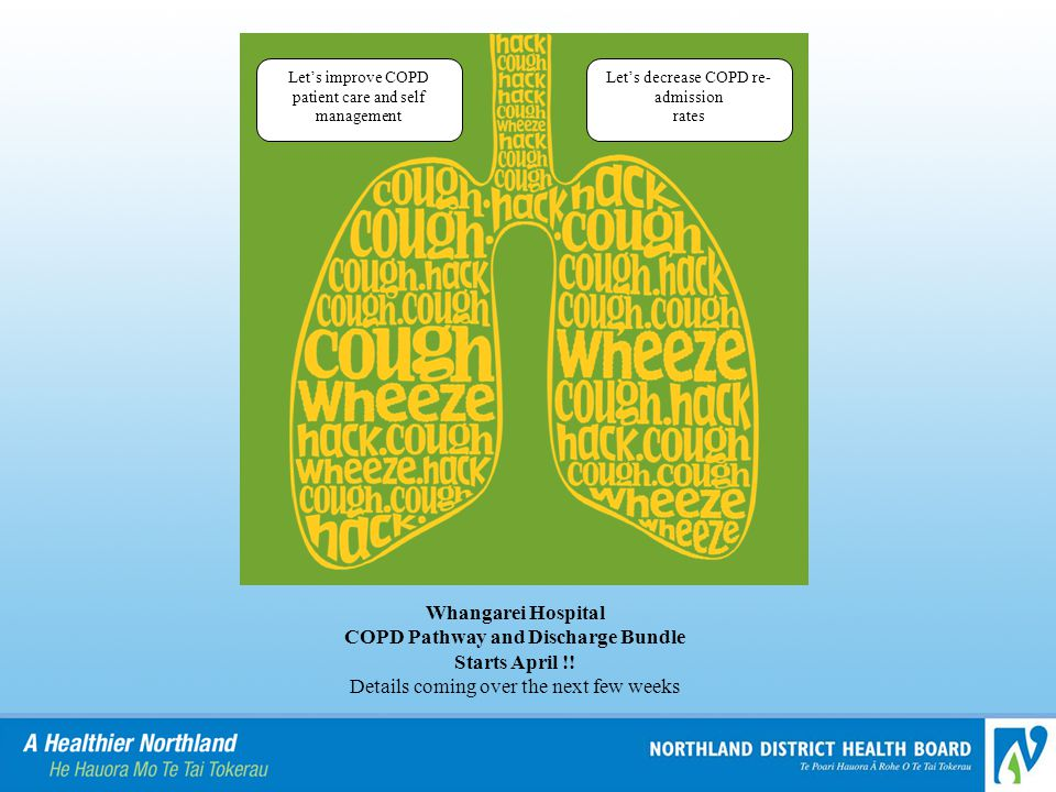 COPD Pathway and Discharge Bundle Starts April !!