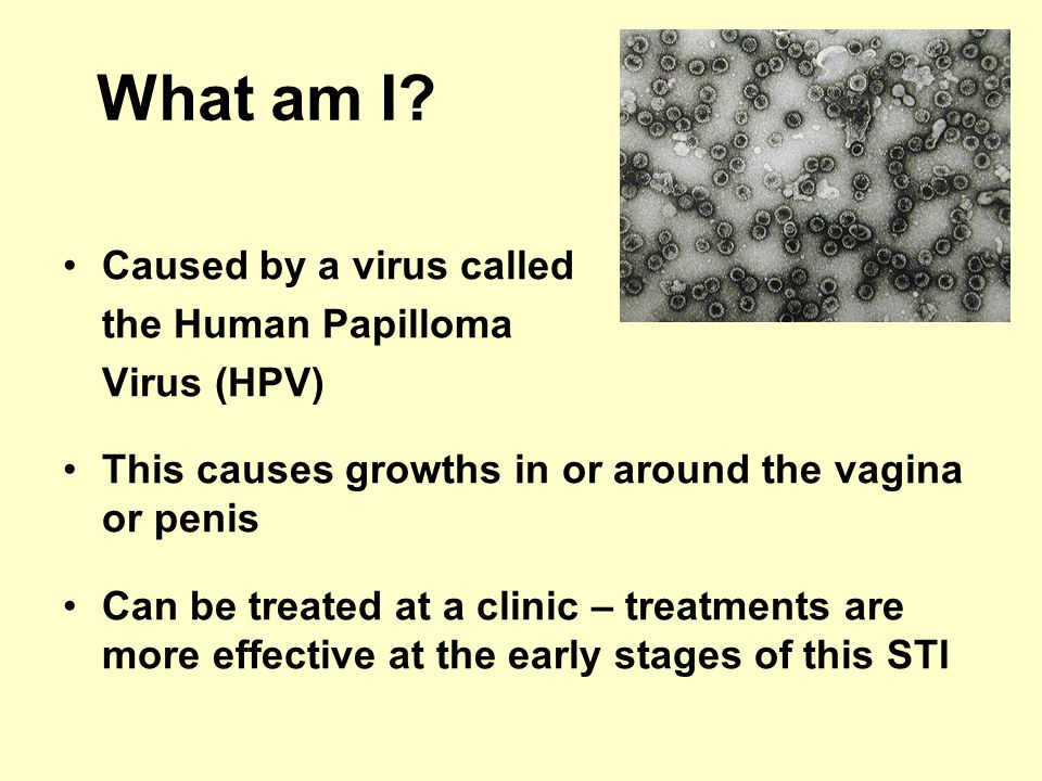 What am I Caused by a virus called the Human Papilloma Virus (HPV)