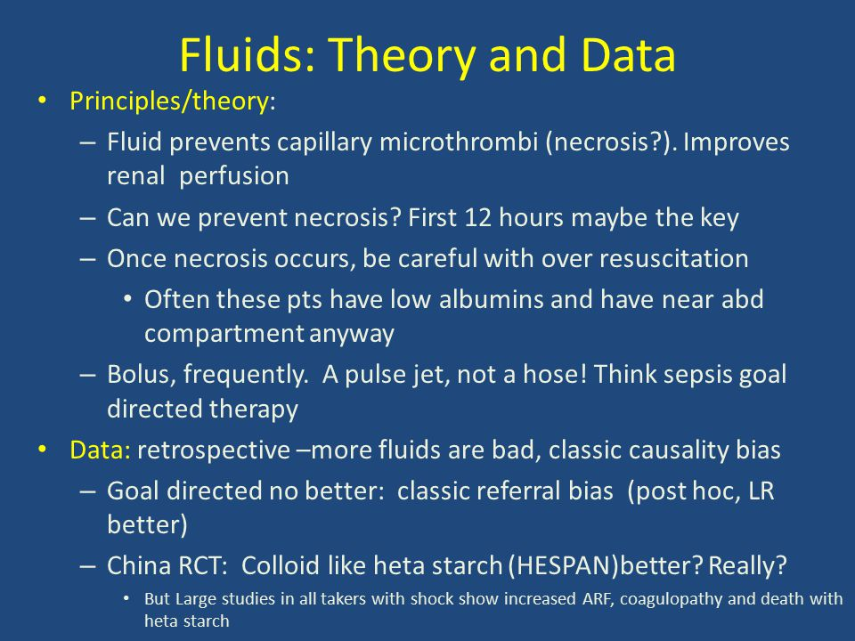 Fluids: Theory and Data