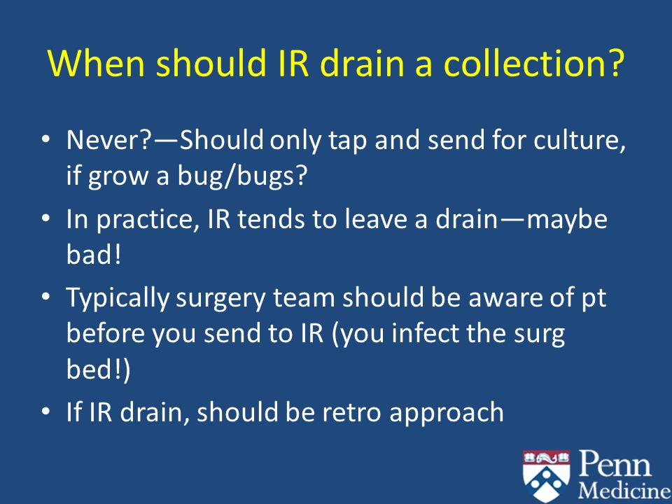When should IR drain a collection