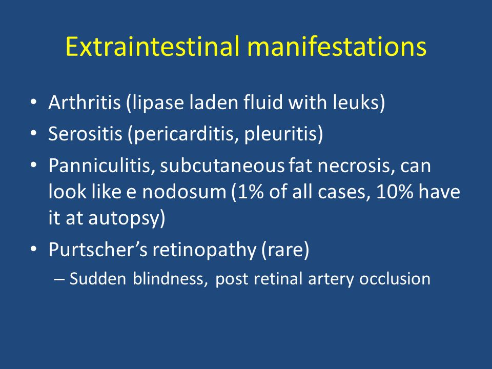 Extraintestinal manifestations