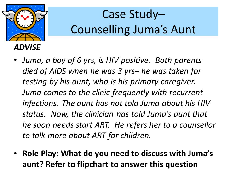 Case Study– Counselling Juma's Aunt