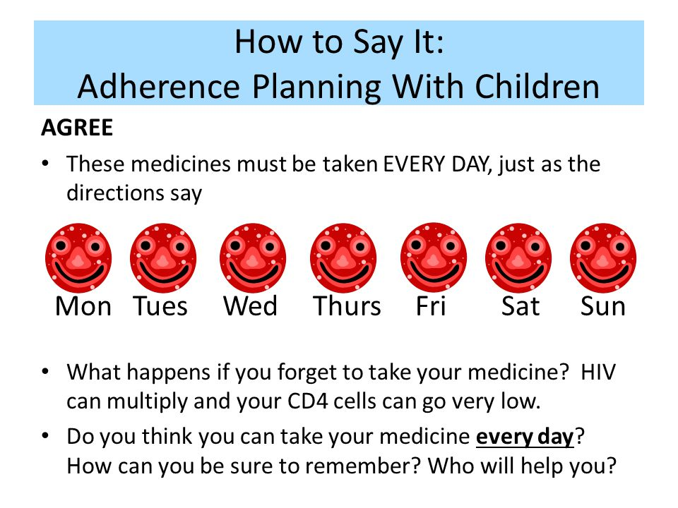 How to Say It: Adherence Planning With Children