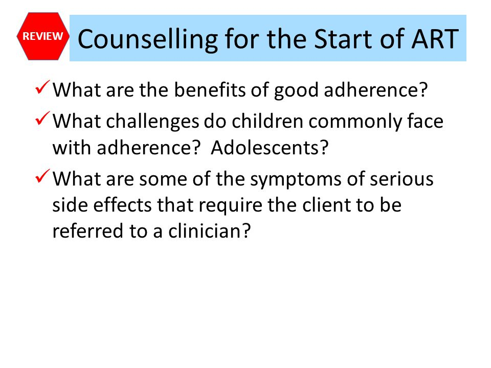 Counselling for the Start of ART