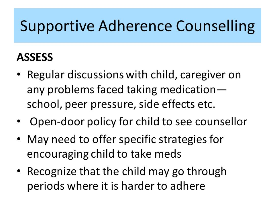 Supportive Adherence Counselling