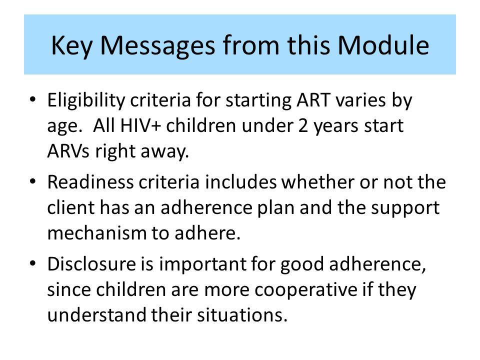 Key Messages from this Module
