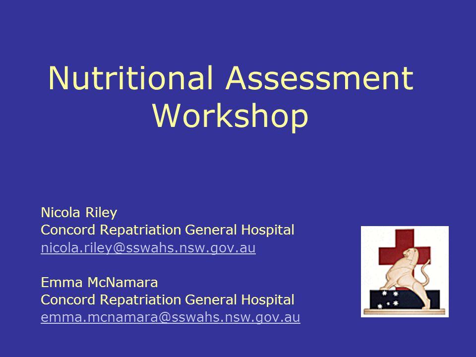 Nutritional Assessment Workshop