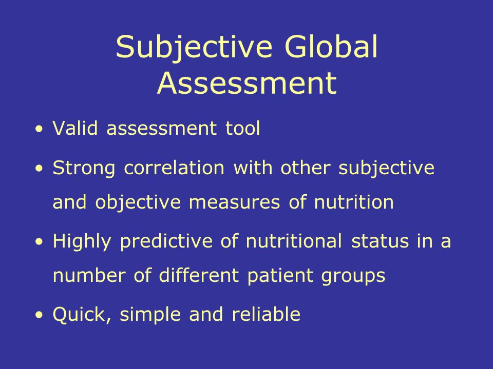 Subjective Global Assessment