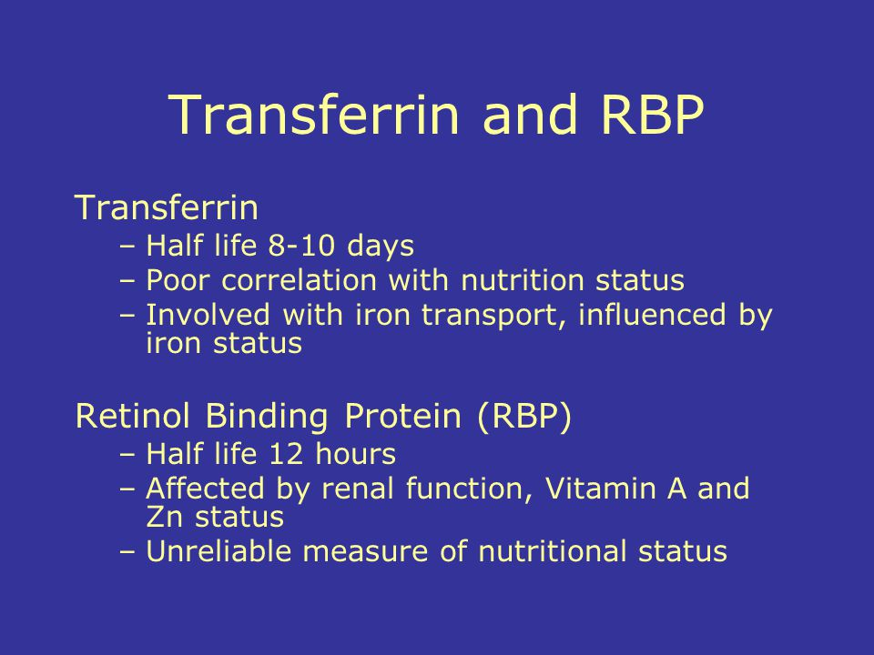 Transferrin and RBP Transferrin Retinol Binding Protein (RBP)